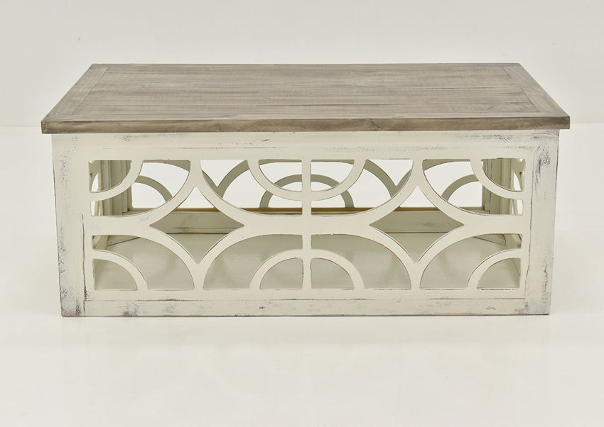Front View of the Westgate Coffee Table by Vintage Furniture | Home Furniture Plus Bedding