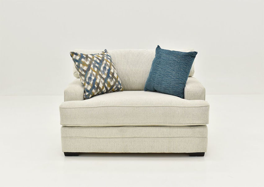 Front Facing View of the Rowan Chair in Off White by Franklin Furniture   Home Furniture Plus Bedding