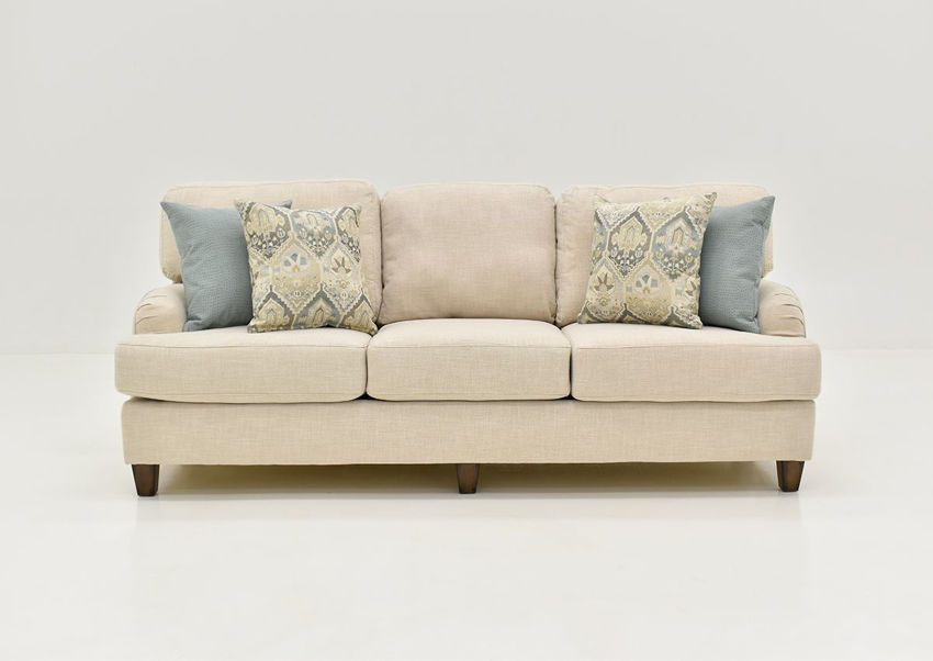Front Facing View of the Kaia Sofa in Off White by Franklin Furniture | Home Furniture Plus Bedding