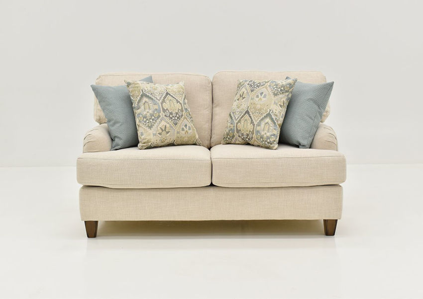 Front Facing View of the Kaia Loveseat in Off White by Franklin Furniture | Home Furniture Plus Bedding