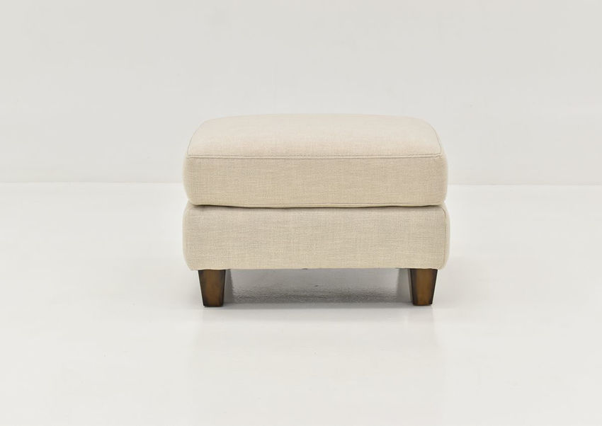 Front Facing View of the Kaia Ottoman in Off White by Franklin Furniture   Home Furniture Plus Bedding
