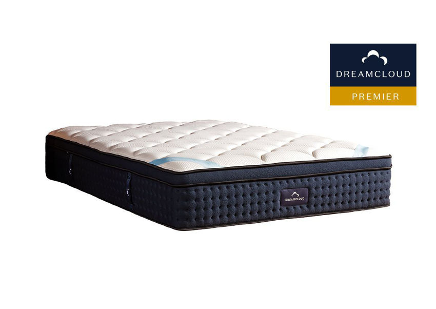 Angled View of the DreamCloud Premier Mattress in Full Size | Home Furniture Plus Bedding