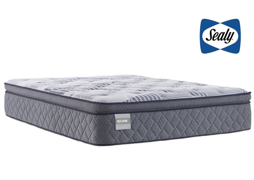 Angled View of the Sealy Faulkner Plush Mattress in Queen Size   Home Furniture Plus Bedding