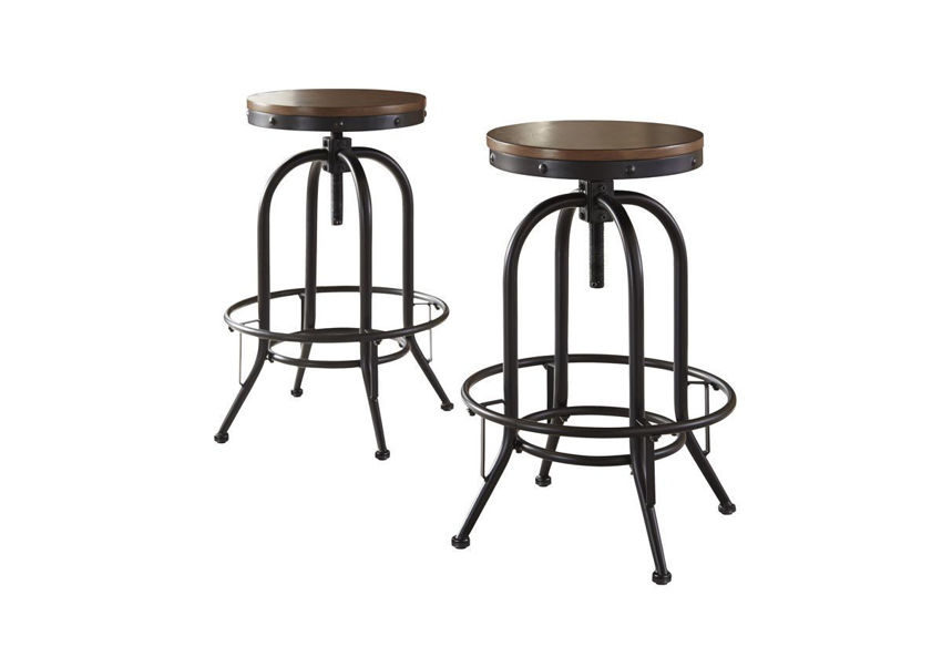 Front and Back Views of the Valebeck Bar Height Barstool by Ashley Furniture   Home Furniture Plus Bedding