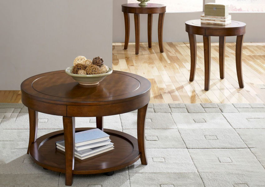 Room View of the Casual Living 3 Piece Coffee Table Set by Liberty Furniture   Home Furniture Plus Bedding