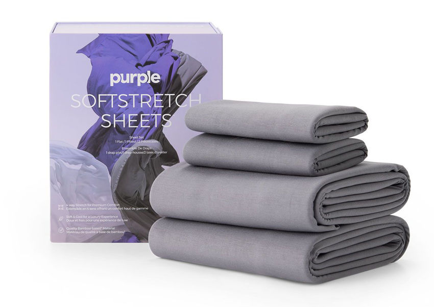 Picture of SoftStretch Bed Sheets - QUEEN Size - Gray