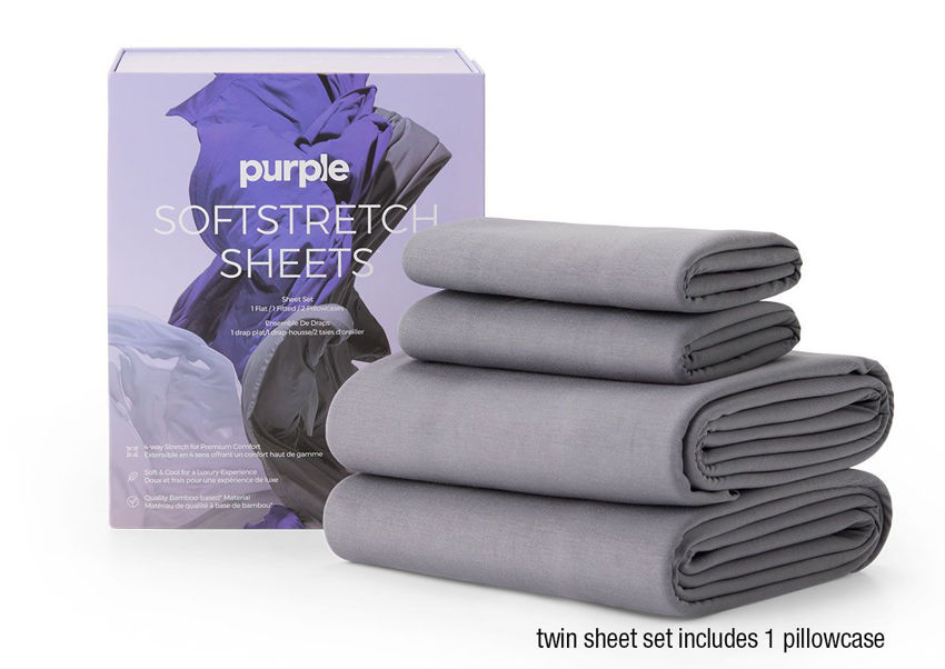 Picture of SoftStretch Bed Sheets - TWIN Size - Gray