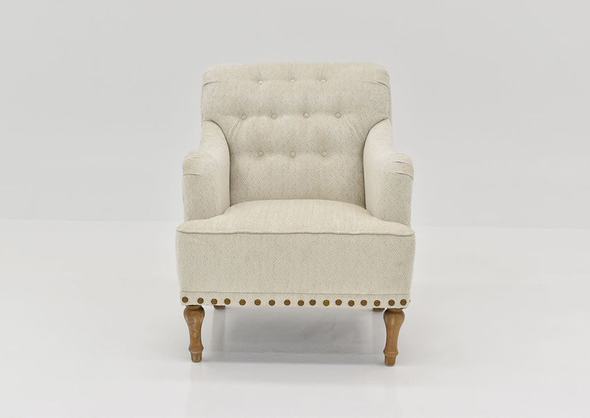 Front Facing View of the Julep Magnolia Accent Chair in Off-White by Chair's America   Home Furniture Plus Bedding