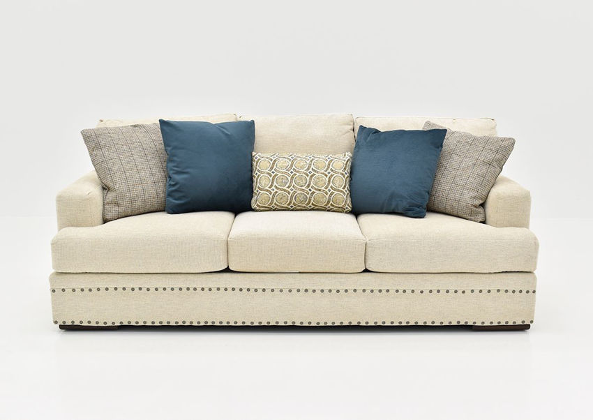 Front Facing View of the Everette Sofa in Off-White by Klaussner | Home Furniture Plus Bedding