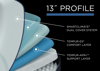 Graphic Showing the Interior Layers in the Tempur-Pedic TEMPUR-LUXEAdapt SOFT - Twin XL   Home Furniture Mattress Center